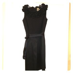 Ruffle collar, Black dress, Ann Taylor, 4P, NWT